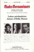 Etudes Germaniques, n°1