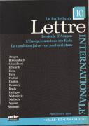 Le Bulletin de Lettre Internationale n° 10