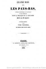 xavier marmier,hollande,littérature,revue des deux mondes,traduction joseph jacotot