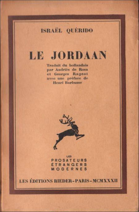 israël querido,henri barbusse,jordaan,littérature,pays-bas,hollande,traduction,roman,saint-georges de bouhélier,zola