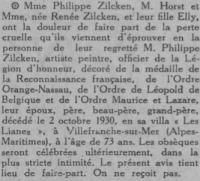 Zilcken - MOrt- COMOEDIA 7 octobre 1930.png