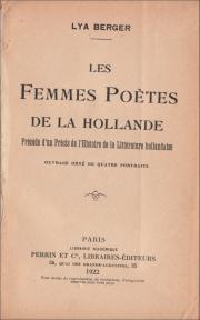 lya berger,hollande,poésie,pays-bas,hadewijch,littérature,gaston rageot,louis payen