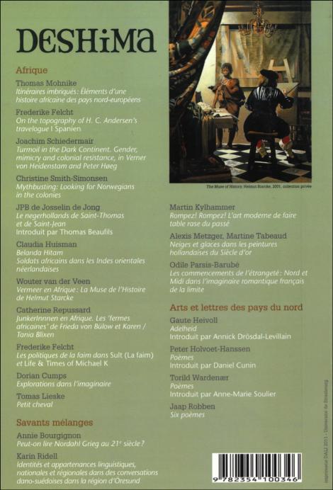 deshima,revue,afrique,littérature,norvège,pays-bas,hamsun,vermeer