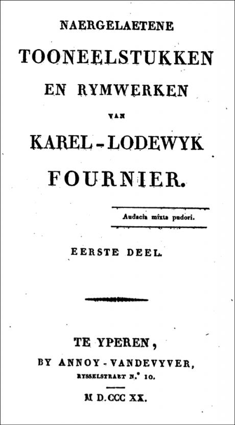karel-lodewyk fournier,le mercure belge,jan frans willems,belgique,pays-bas,littérature,théâtre,traduction,poésie