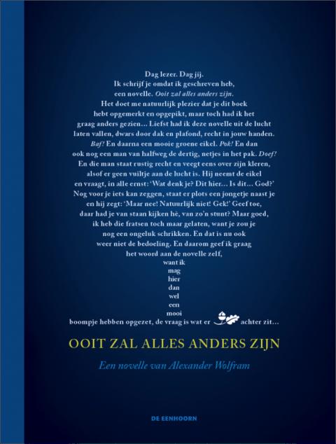 Alexander Wolfram, éditions De eenhoorn, littérature jeunesse, belgique, littérature néerlandaise