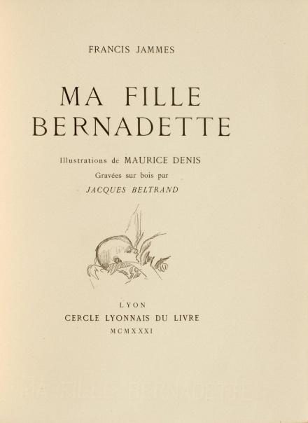 francis jammes,pogen,nrf,bernadette,poésie,traduction