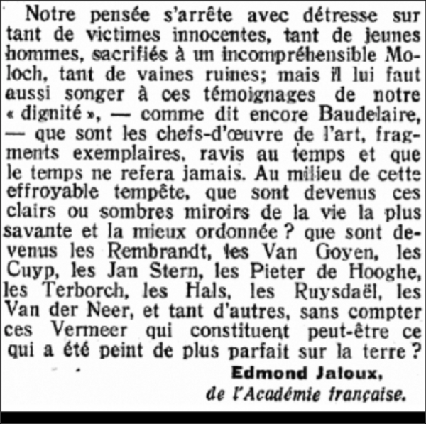 hollande,edmond jaloux,littérature,guerre,suisse,traduction,sorbonne,figaro