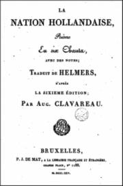 littérature,lettres néerlandaises,traduction littéraire,napoléon,hollande,helmers,nation