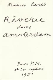 amsterdam,anvers,littérature,poésie,francis carco
