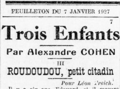 conte,alexandre cohen,léon treich,roudoudou