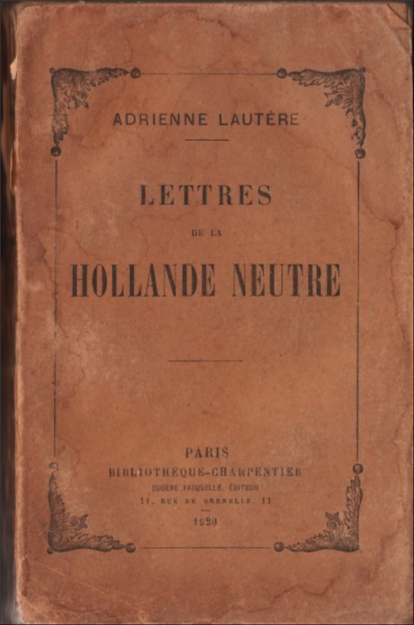 littérature,tradition,fête,saint nicolas,hollande; adrienne heineken