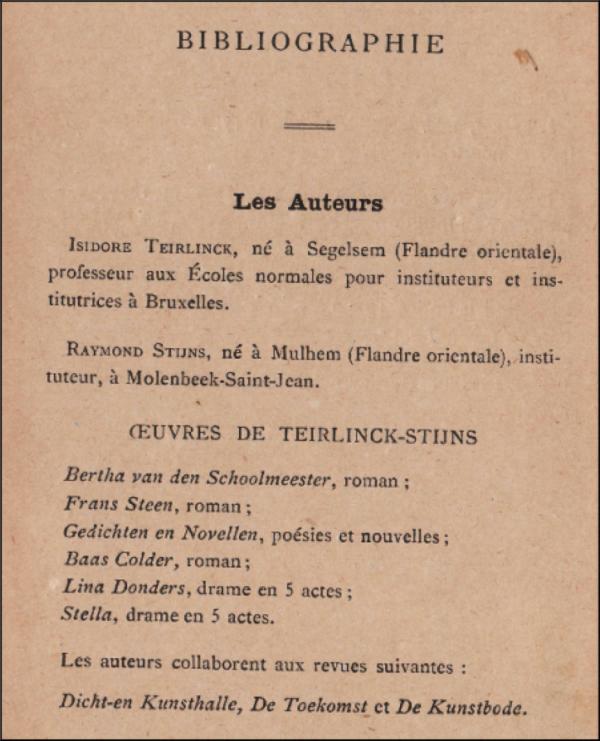 flandre,néerlandais,littérature,traduction,teirlinck stijns,nouvelles
