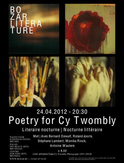roland jooris,poésie,traduction,cy twombly,roger raveel