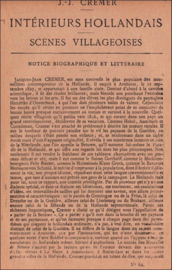 dickens,roman populaire,pays-bas,j.j. cremer,traduction littéraire,henri gautier,carle van loo,nice,monaco,casino