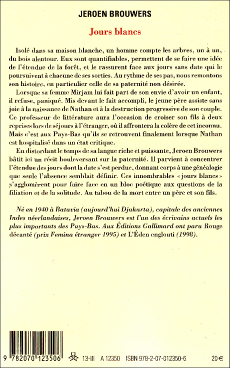 jeroen brouwers, littérature, pays-bas, hollande, traduction, gallimard