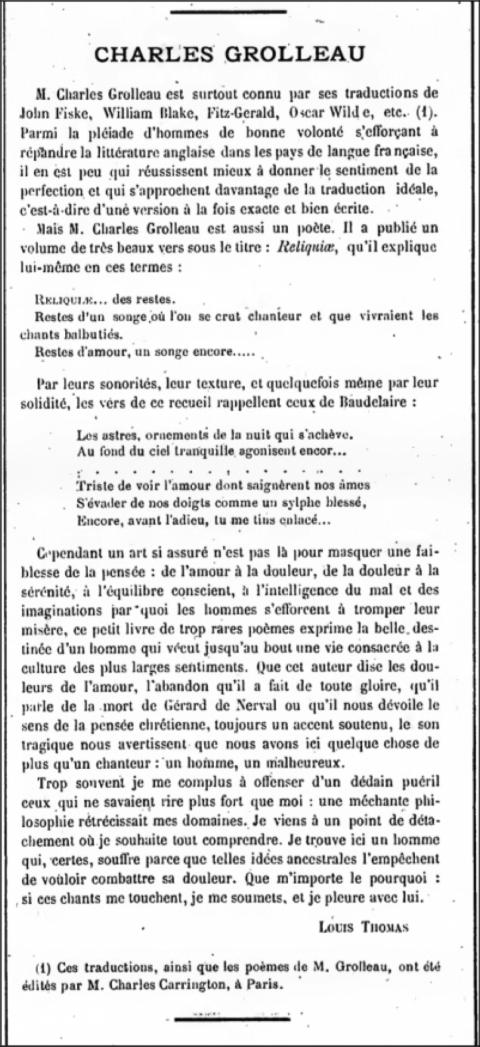 vlaamse letterkunde,poésie,traduction littéraire,flandre,gezelle,bruges,charles grolleau